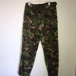 woodland camo lightweight cargo pants